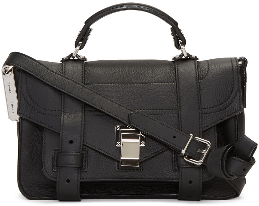 Proenza Schouler Black Tiny Ps1and Satchel