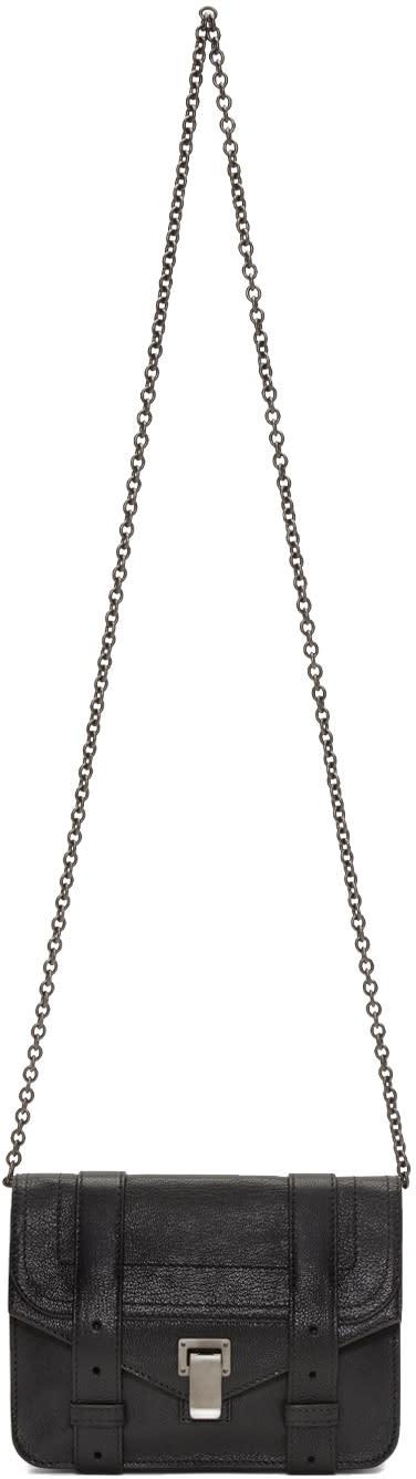 Proenza Schouler Black Ps1 Chain Wallet Bag