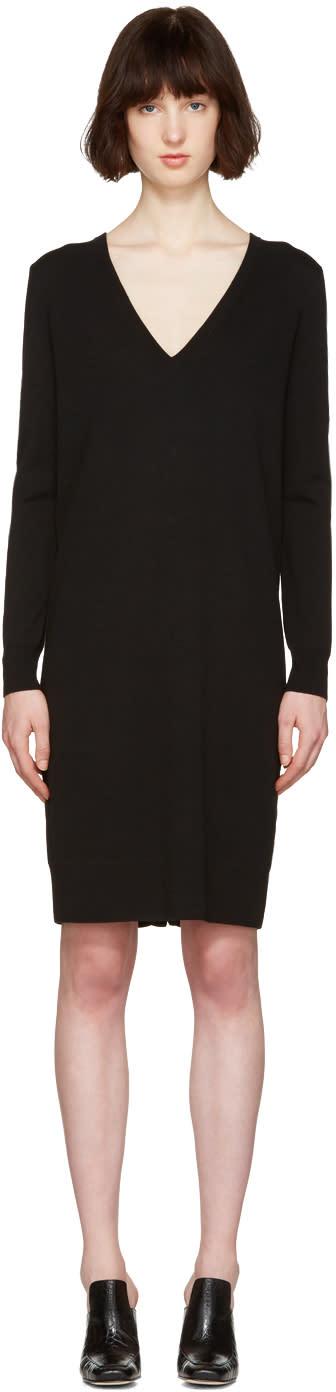 Proenza Schouler Black Button Back Dress