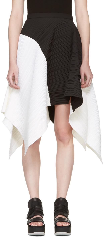 Proenza Schouler Black and White Asymmetric Skirt