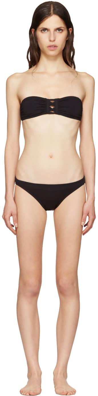 Proenza Schouler Black Lace-front Bikini