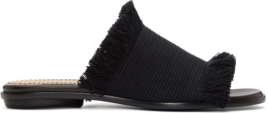 Proenza Schouler Black Canvas Sandals