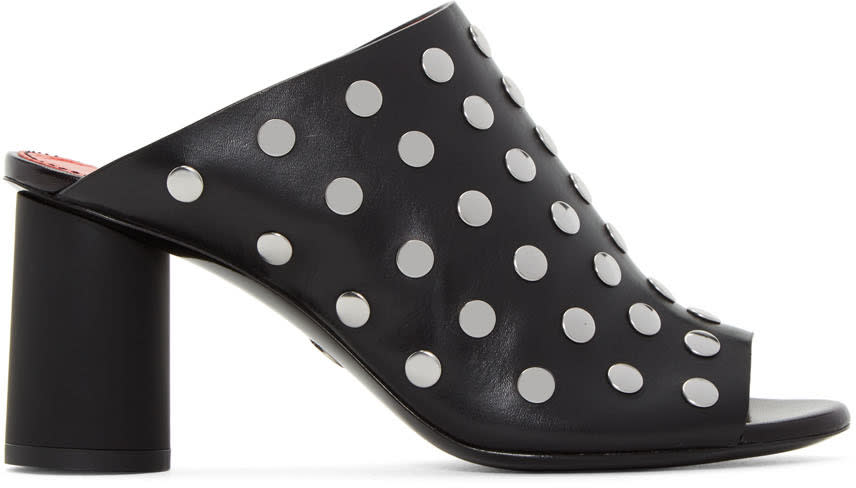 Proenza Schouler Black Studded Panda Sandals