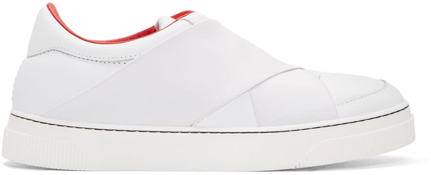 Proenza Schouler White Leather Slip-on Sneakers