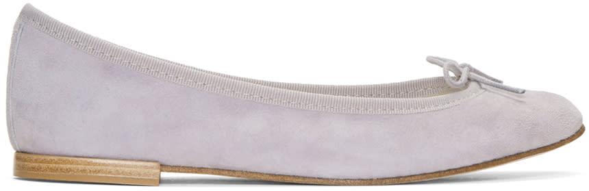 Repetto Grey Suede Cendrillon Ballerina Flats