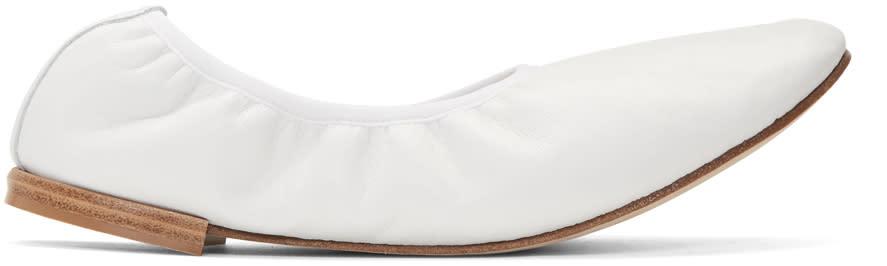 Repetto White Caruso Ballerina Flats