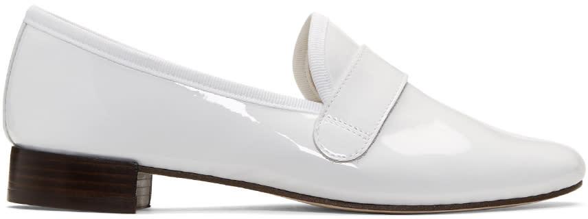Repetto White Michael Loafers