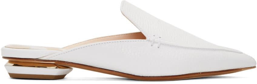 Nicholas Kirkwood White Beya Slip-on Loafers