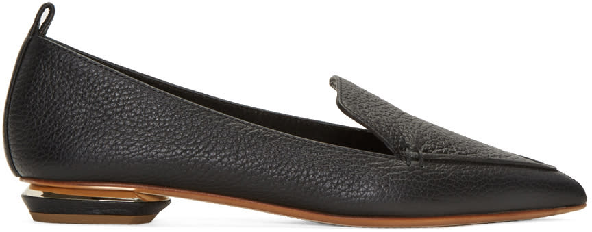 Nicholas Kirkwood Black Leather Beya Loafers