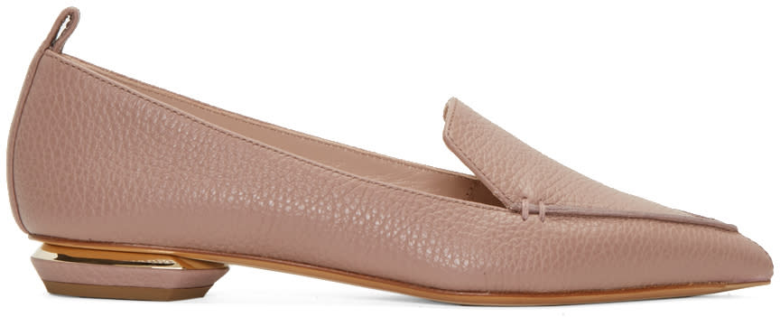Nicholas Kirkwood Pink Leather Beya Loafers