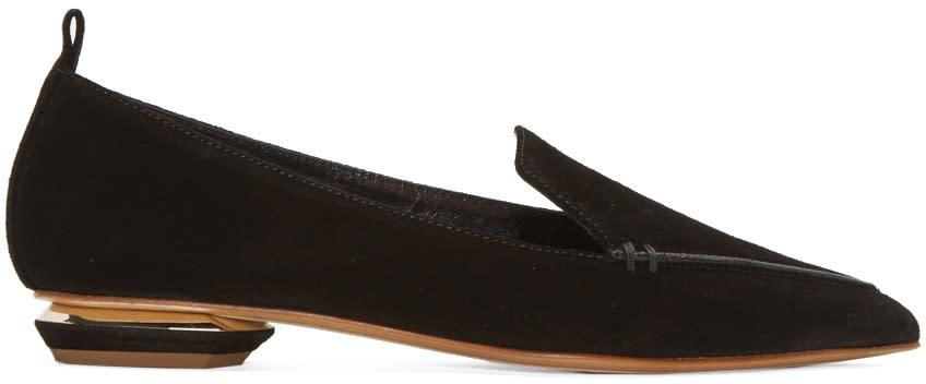 Nicholas Kirkwood Black Suede Beya Loafers