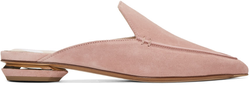 Nicholas Kirkwood Ssense Exclusive Pink Beya Slip-on Loafers