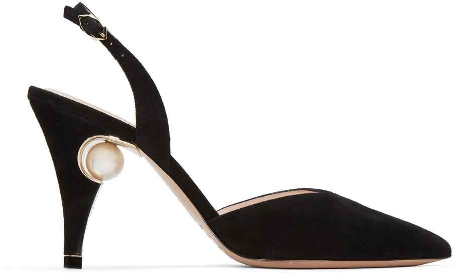 Nicholas Kirkwood Black Penelope Pearl Heels