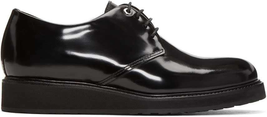 Want Les Essentiels Black Patent Menara Wedge Derbys
