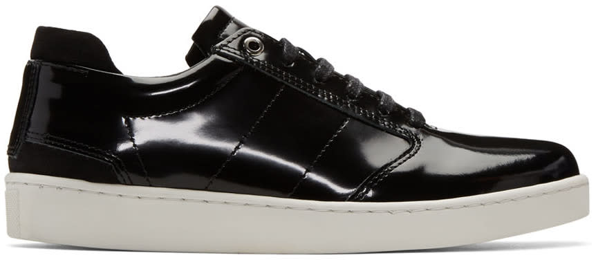 Want Les Essentiels Black Patent Lennon Sneakers