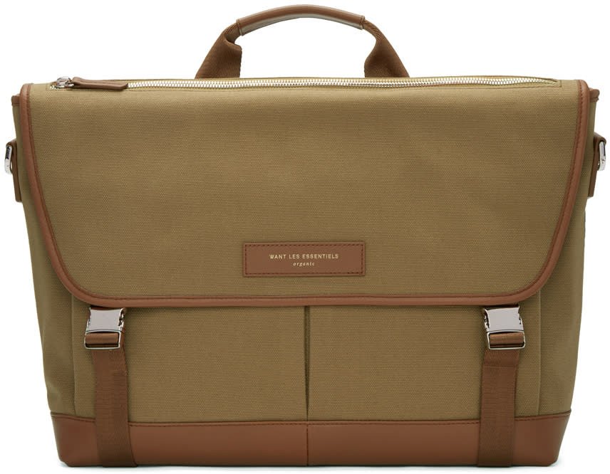 Want Les Essentiels Beige Canvas Jackson Messenger Bag