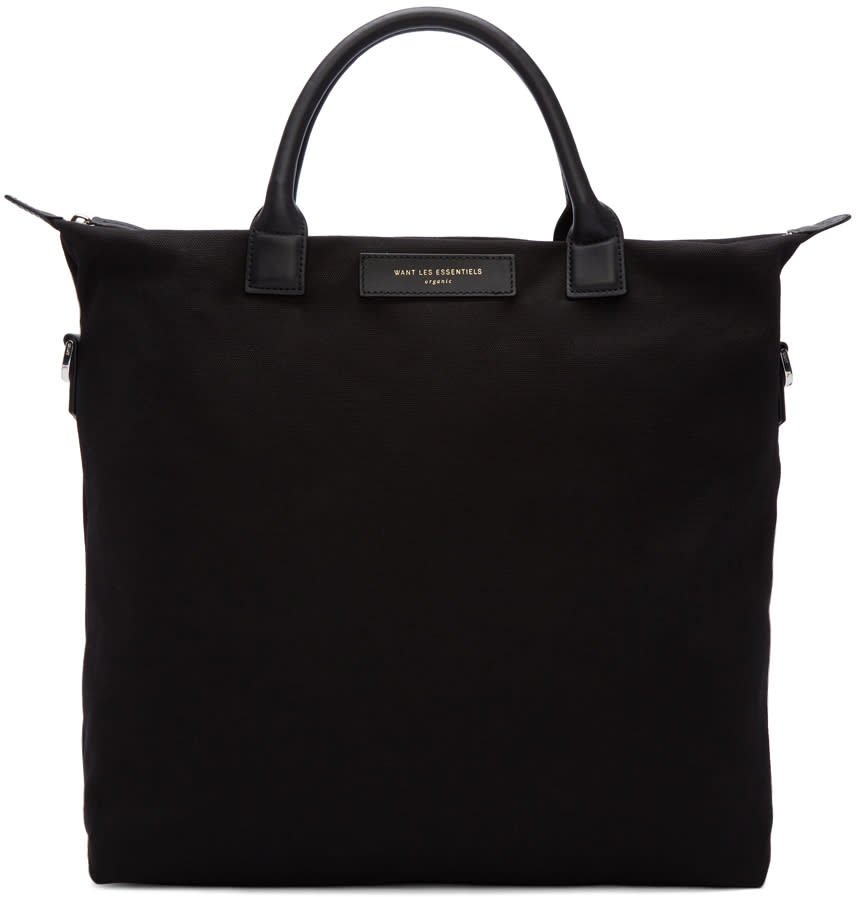 Want Les Essentiels Black Canvas Ohare Tote