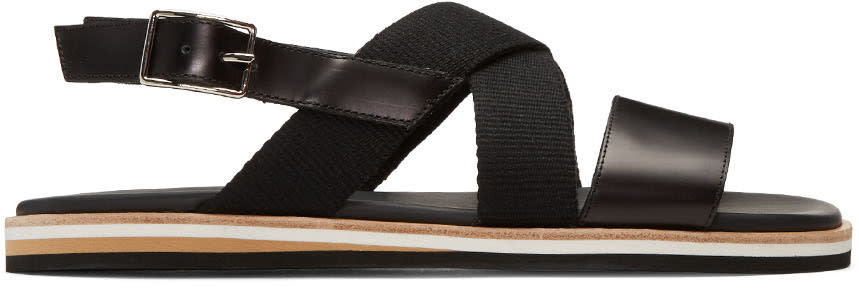 Want Les Essentiels Black Jobim Sandals