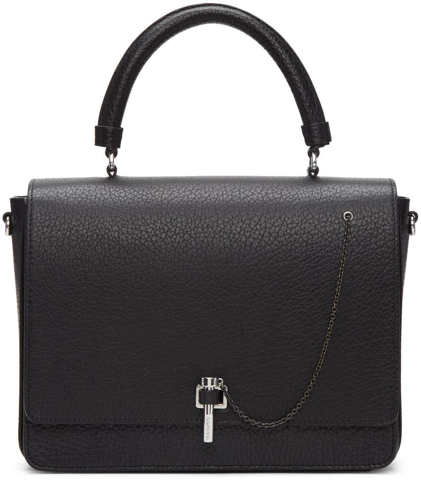 Carven Black Leather Clasp Bag