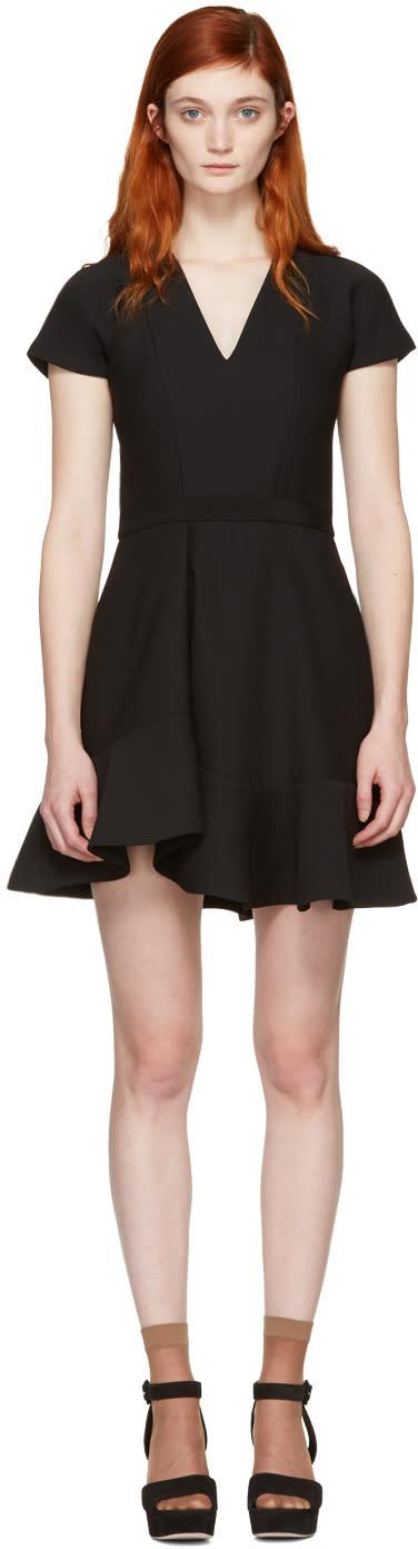 Carven Black Ruffled Dress