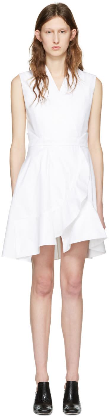 Carven White Ruffle Dress