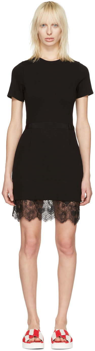 Carven Black Lace Trim Dress