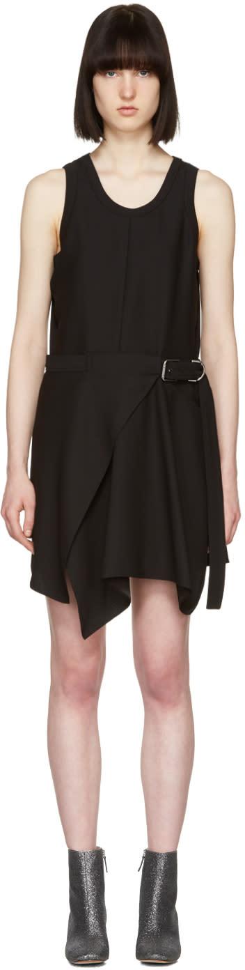 Image of Carven Black Buckle Dress