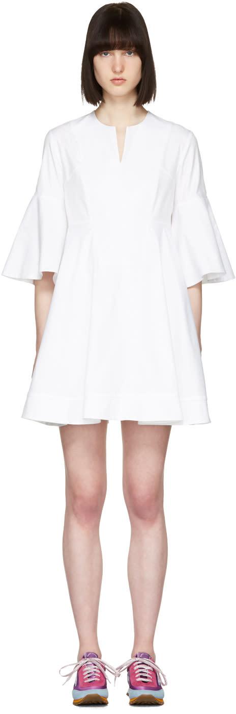 Carven White Flare Sleeves Dress