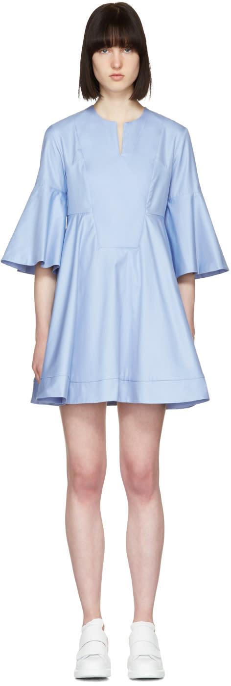 Carven Blue Flare Sleeves Dress