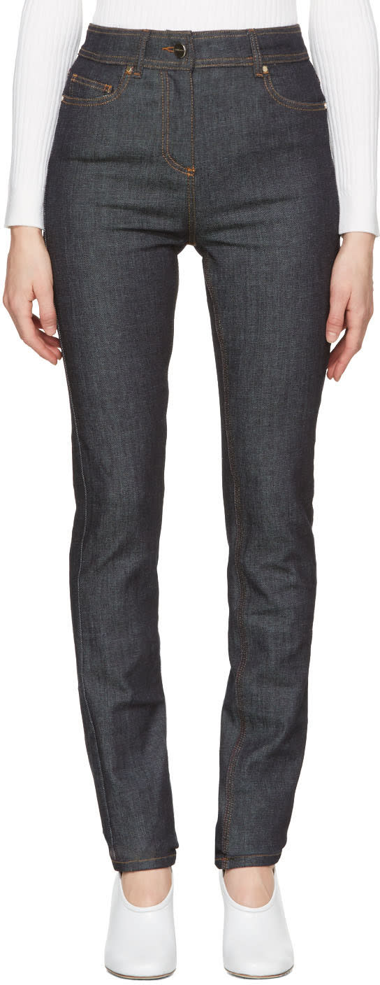 Carven Indigo Fitted Jeans