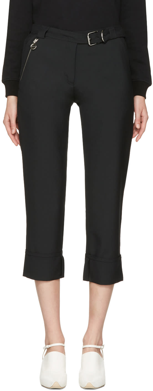 Carven Black Cuffed Trousers