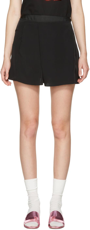 Carven Black Fluid Shorts