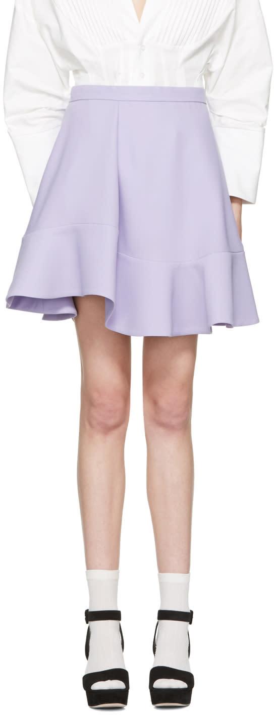 Carven Purple Ruffle Skirt