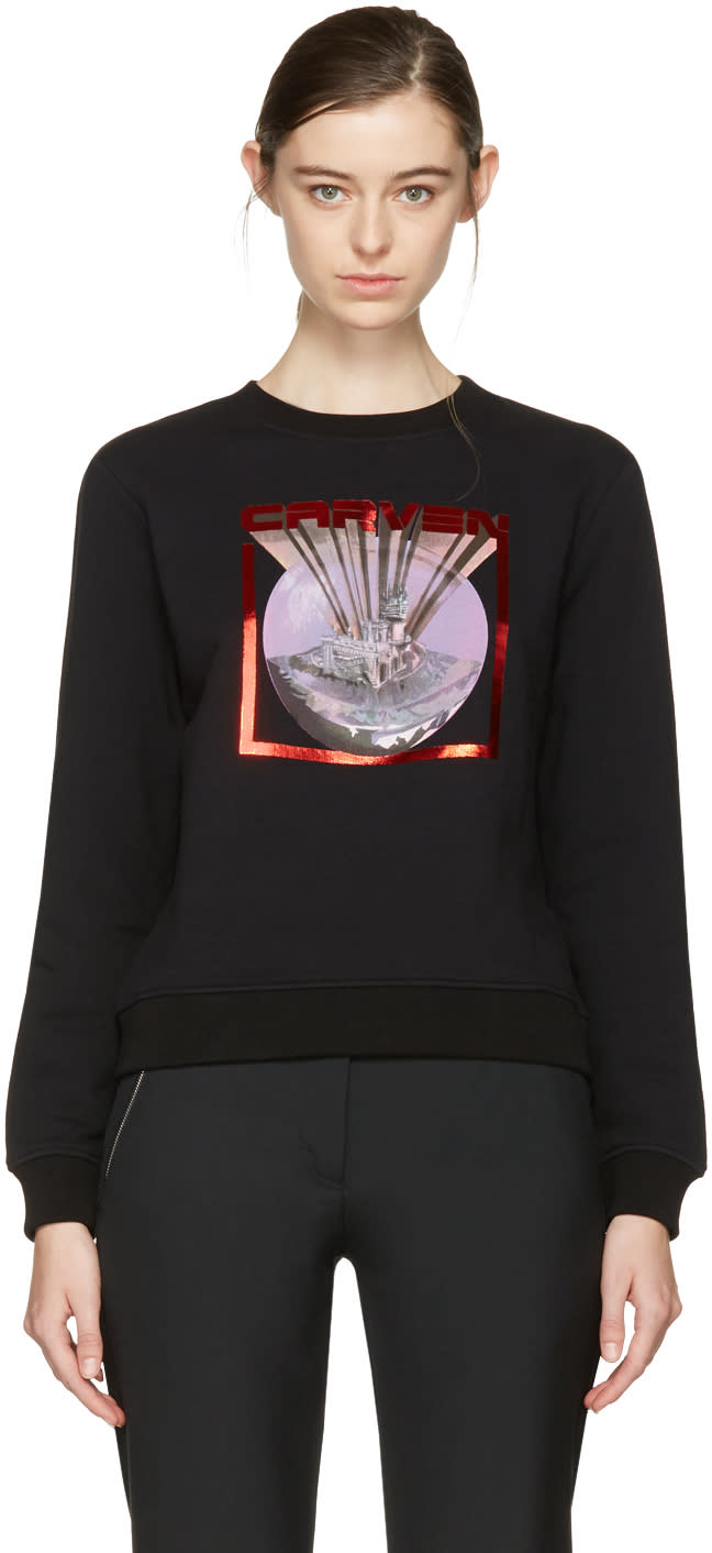 Carven Black Logo Pullover