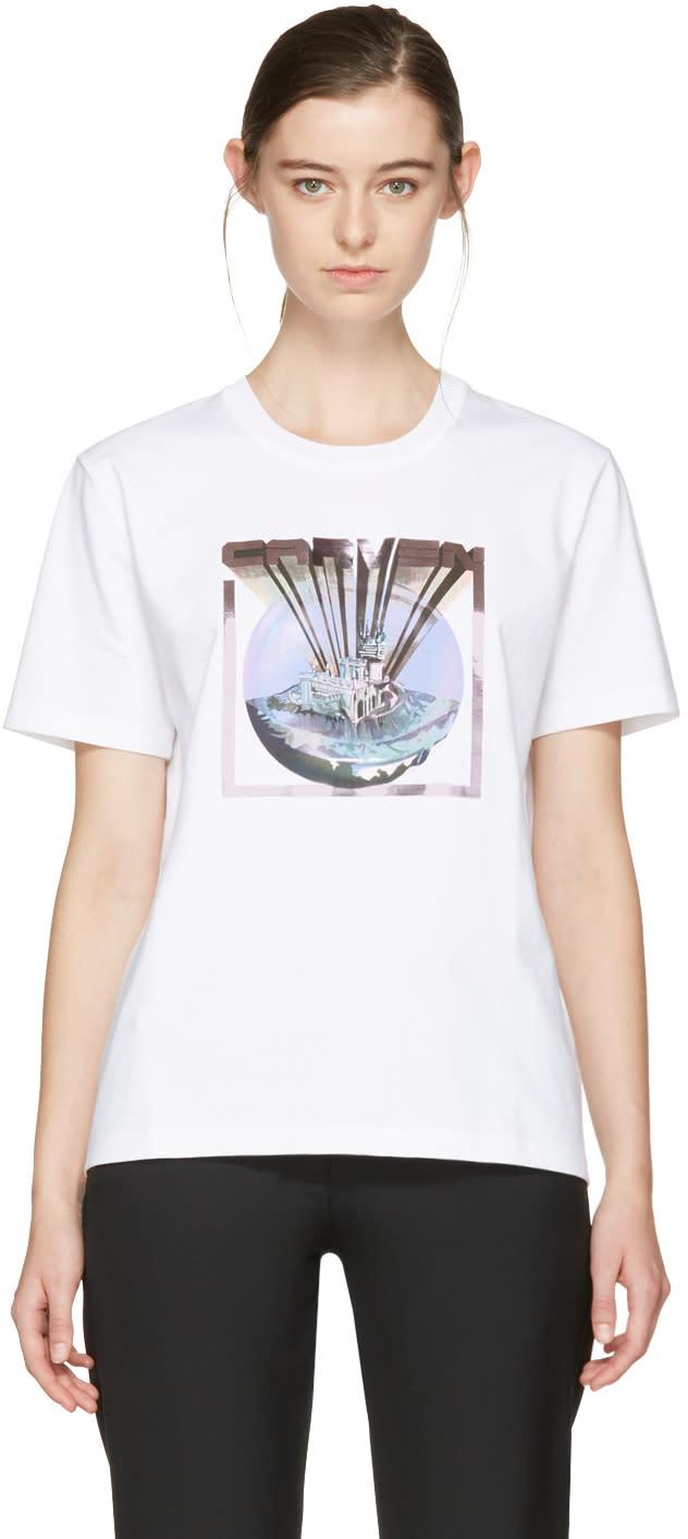 Carven White Logo T-shirt