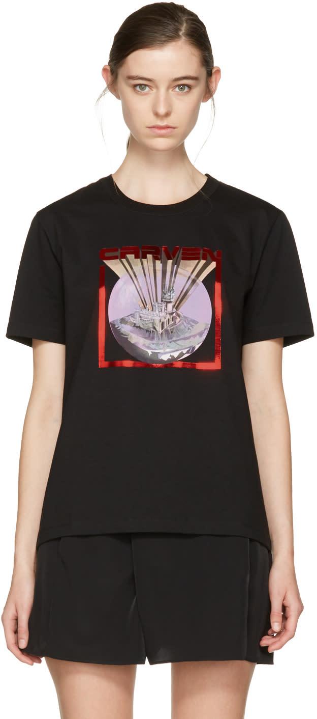 Carven Black Logo T-shirt