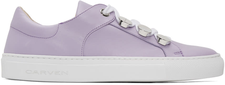 Carven Purple Button Sneakers