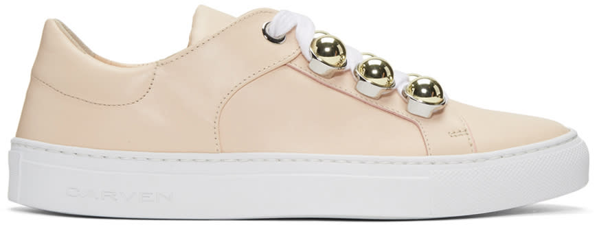 Image of Carven Beige Button Sneakers