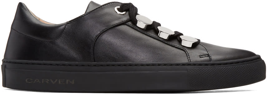 Carven Black Button Sneakers