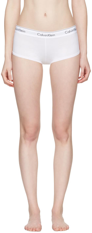 Calvin Klein Underwear White Modern Boy Shorts