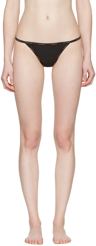 Image of Calvin Klein Underwear Black Mesh String Thong