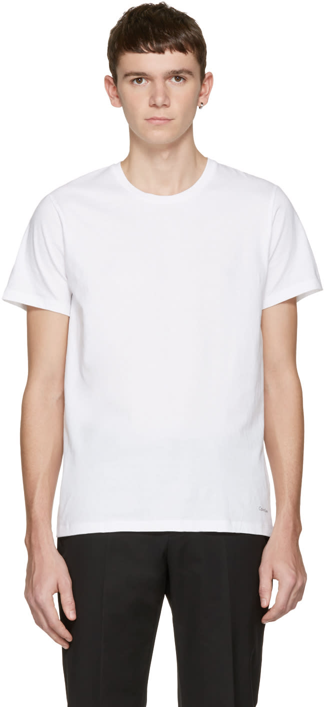Calvin Klein Underwear Three-pack White Classic-fit T-shirts