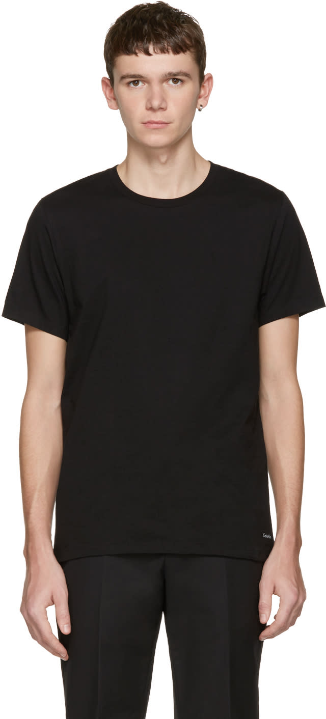 Calvin Klein Underwear Three-pack Black Classic-fit T-shirts