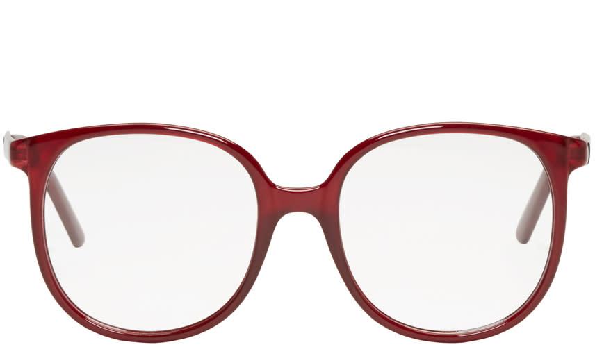 Chloe Burgundy Round Glasses