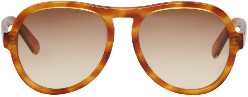 Chloe Tortoiseshell Aviator Sunglasses