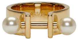 Chloe Gold Darcey Bar Ring