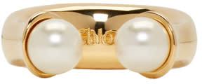 Chloé Gold Darcey Round Ring