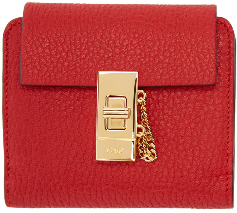 Chloe Red Square Drew Wallet