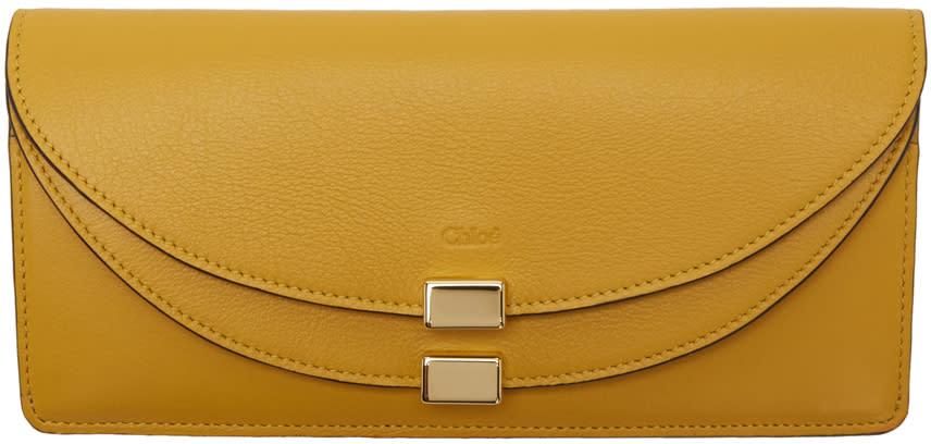 Chloe Yellow Long Georgia Wallet