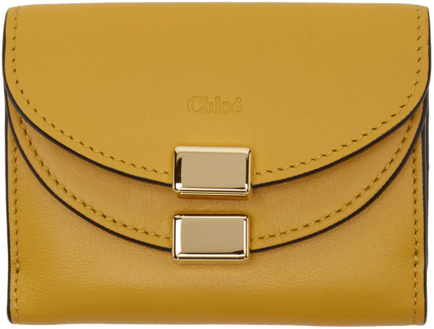 Chloe Yellow Square Georgia Wallet